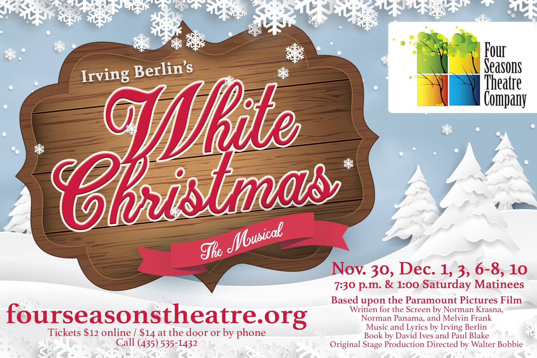 White Christmas Musical.Head To Smithfield And Let Four Seasons Theatre Company S